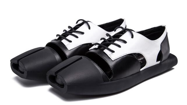 经典系带黑白平底女鞋cree kree磁性鞋