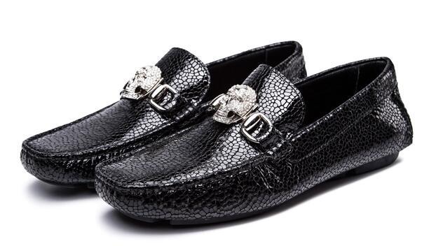 真皮小石纹男士皮鞋cree kree磁场鞋
