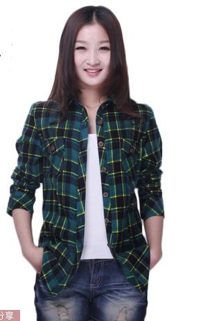 喬家棉依2013新款女式 韓版修身翻領單排扣 純棉