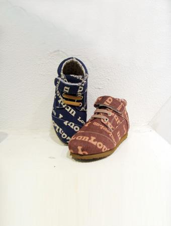 热狗童鞋棕色系带男童新款上市