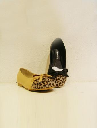 熱狗童鞋黃色蝴蝶結豹紋女童新款上市