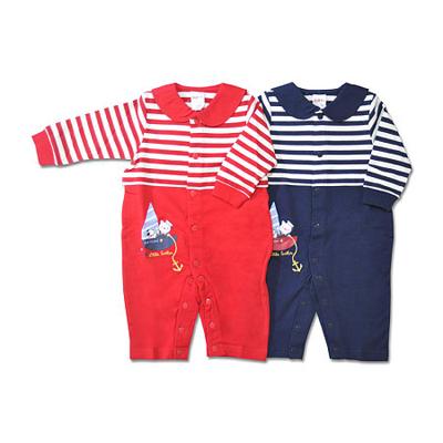 下一代童装批发宝宝哈衣小水手海军领全开连体