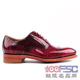 阿布頓意大利新款固特異純手工進口鏡面商務男鞋