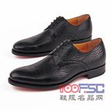 阿布頓意大利新款固特異純手工鯊魚皮男鞋