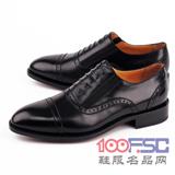 阿布顿意大利新款固特异纯手工小牛皮皮鞋