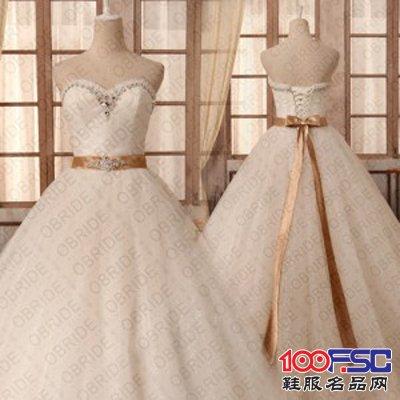 歐泊蕾 13年新款優雅白紗齊地婚紗