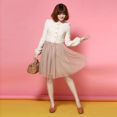 t&w春季时尚流行元素连衣裙二