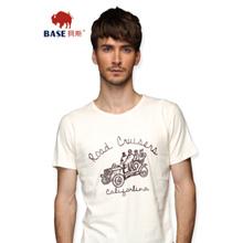 BaseRevolu 2014夏季新款 纯棉男士圆领修身印花t恤