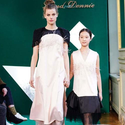 蓝黛丹尼惊艳亮相巴黎童装周,推出高定亲子装