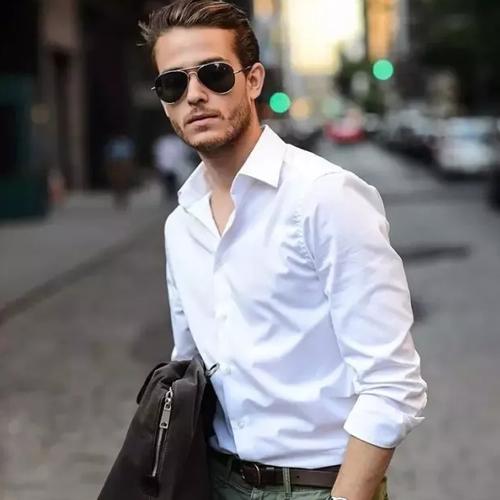 Saslax白衬衫真的太有型了,这个夏天,穿上白衬衫,你就赢了!
