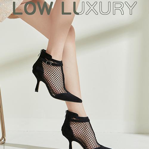 fed2021夏季新品网纱镂空时尚细跟气质短靴