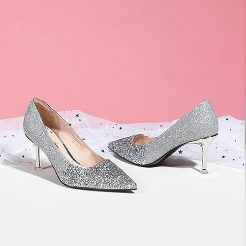 St&Sat/星期六春夏新款优雅闪耀亮片女鞋