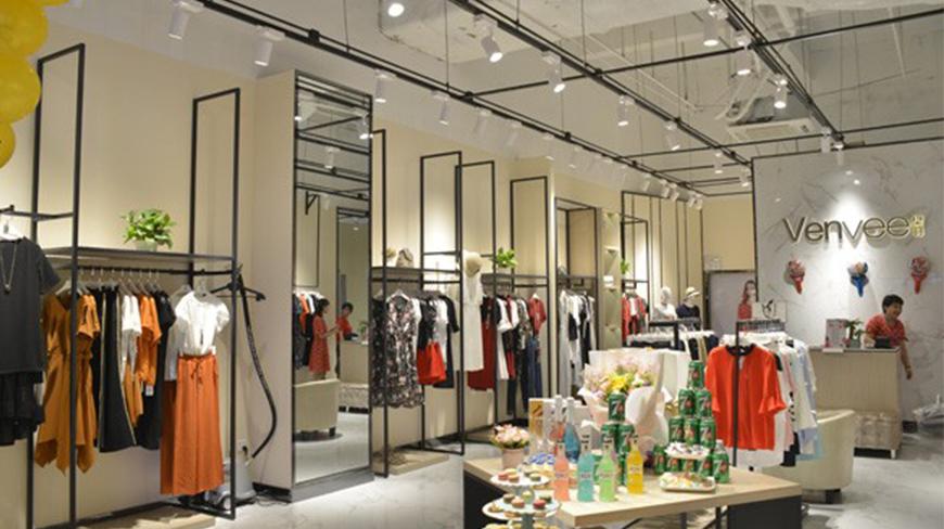 Venvee女装装店铺入驻商场效果图