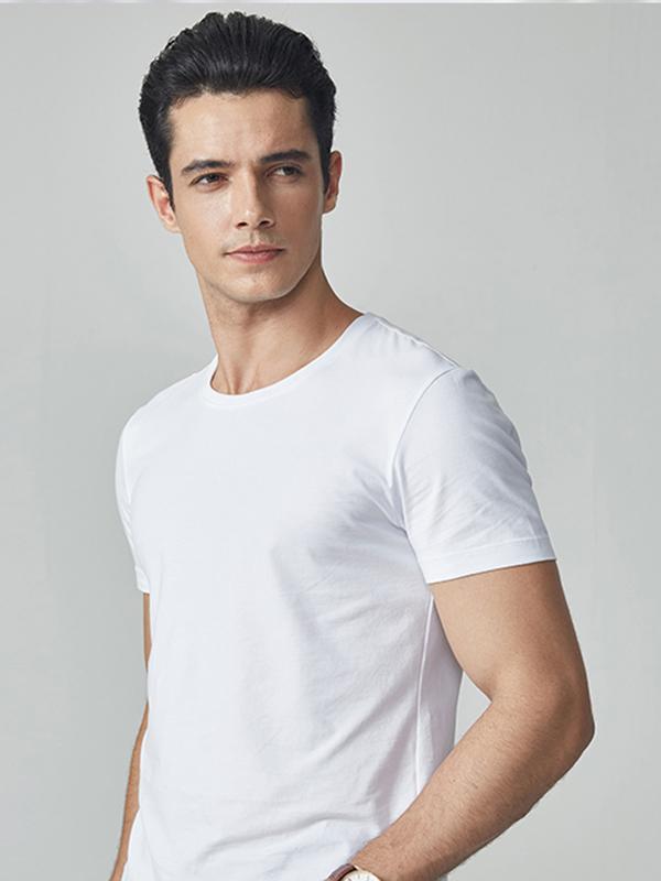 九牧王男装短袖纯色T恤