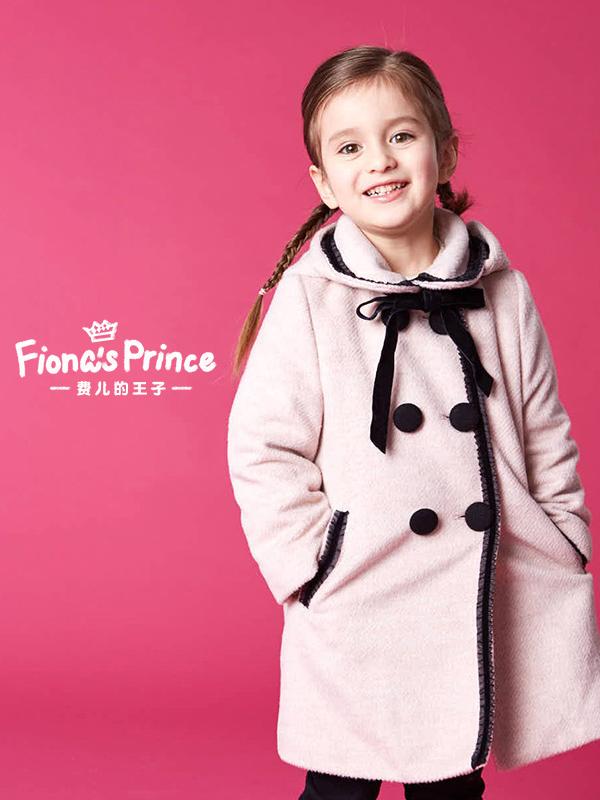 費兒的王子19秋冬新款兒童加棉女童毛呢外套