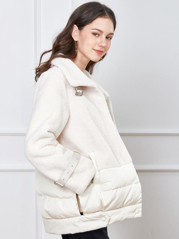 摩奧女裝2019冬季新款時尚大翻領短款棉服外套