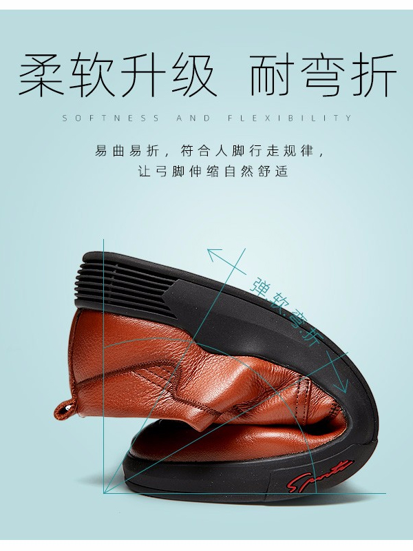 保罗盖帝(PLO-CART)秋季新款真皮软底商务休闲男鞋