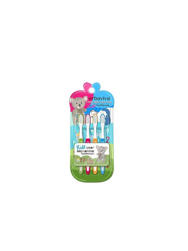 艾芭薇刷刷乐儿童护齿牙刷(2_5岁)4支装