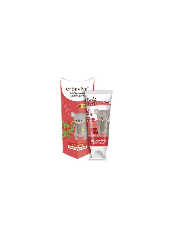 艾芭薇儿童牙膏(换牙期)草莓味 50g